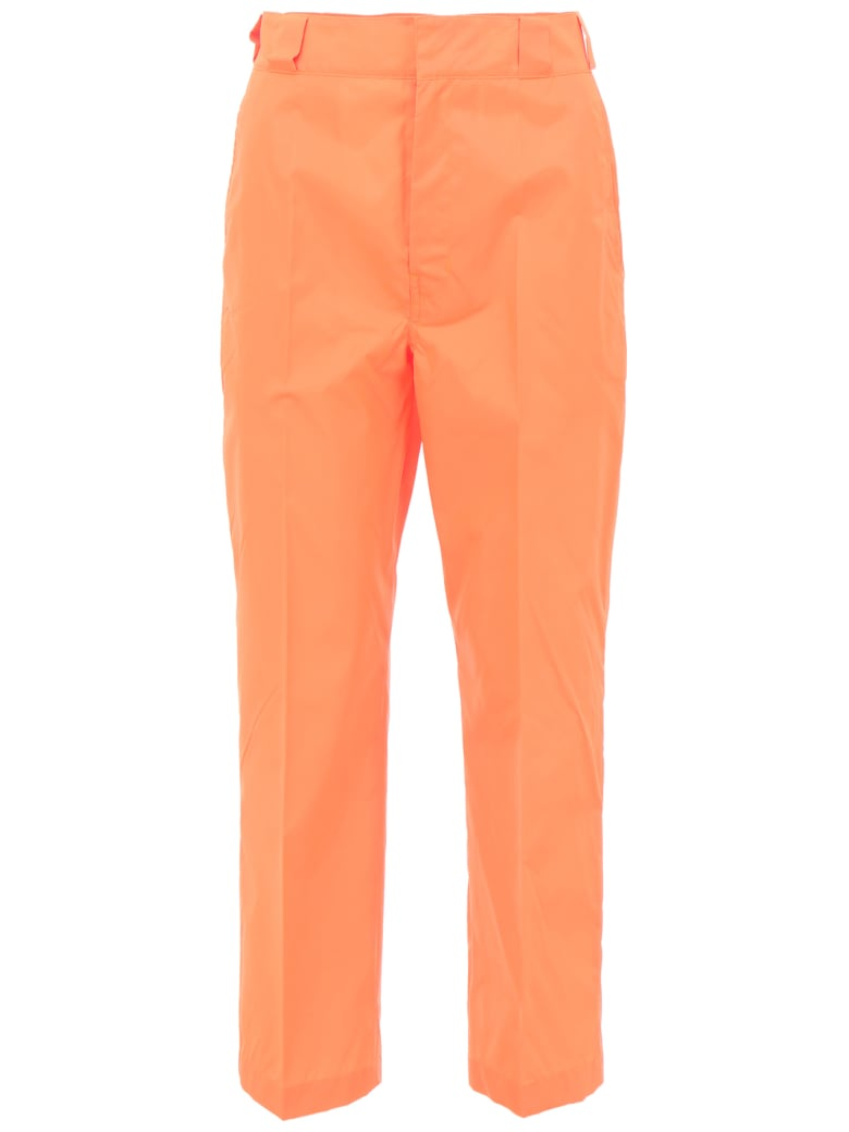 Prada Linea Rossa Nylon Gabardine Trousers - CORALLO (Orange)