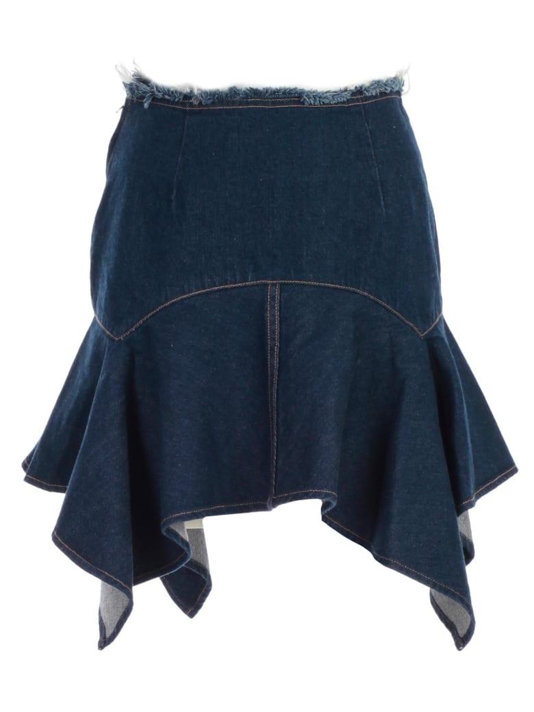 Marques'Almeida Asymmetric Skirt - Indigo