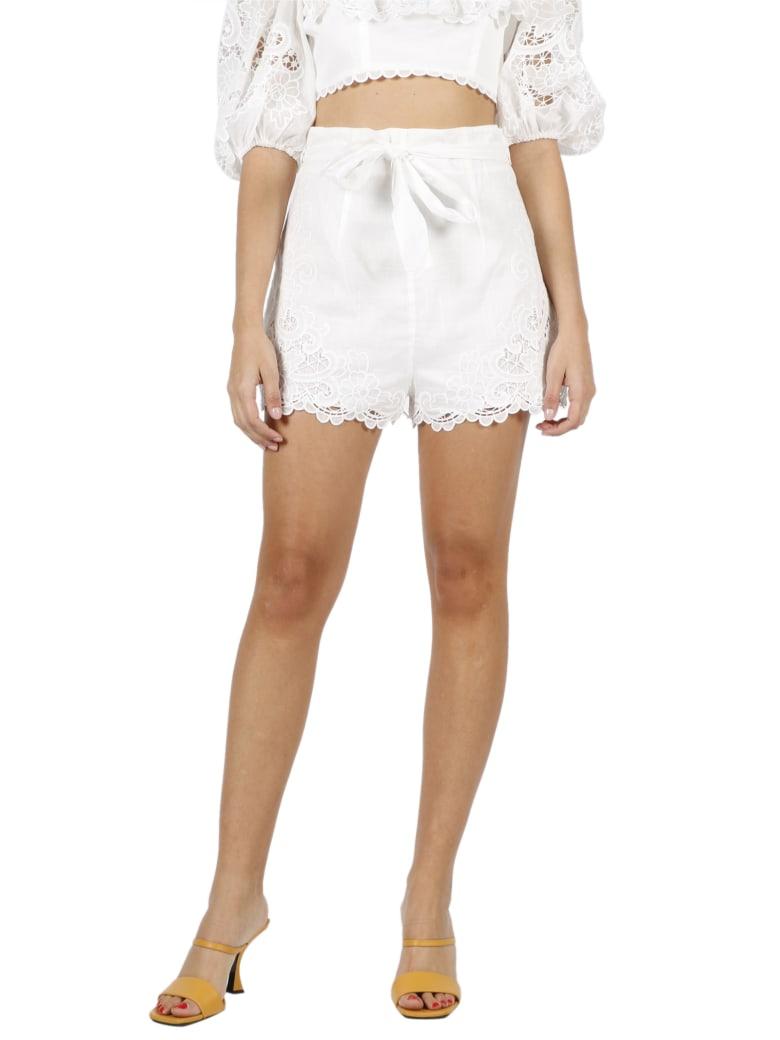 Zimmermann Lulu Scallop Shorts - White
