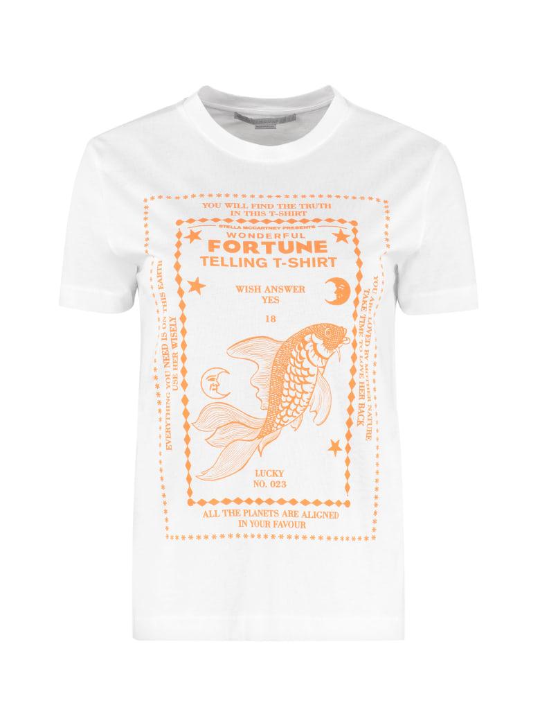 Stella McCartney Fish Fortune Telling Cotton T-shirt - White