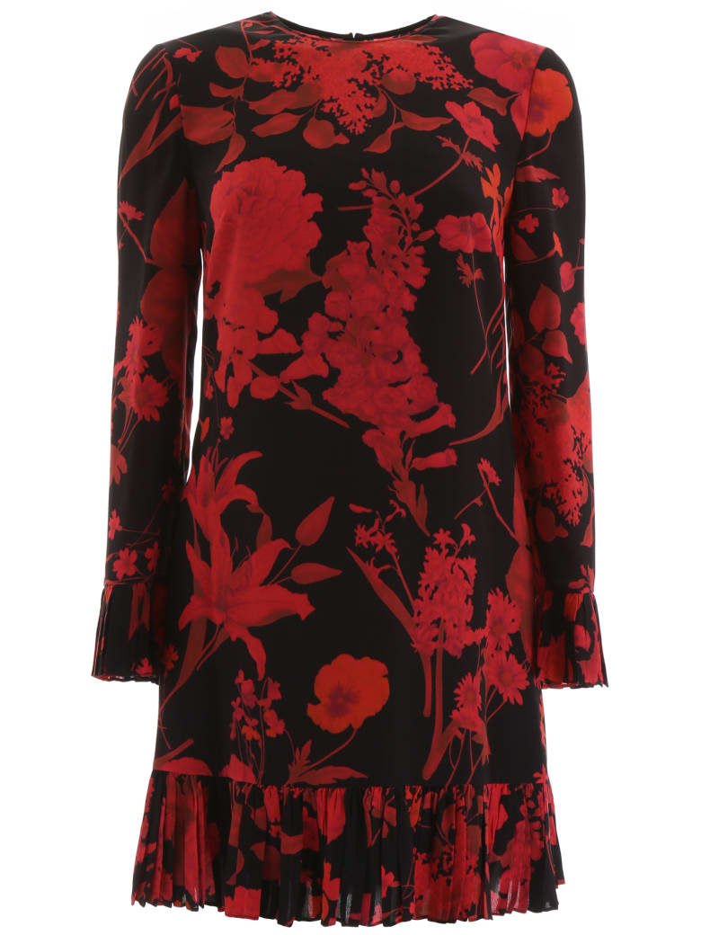 Valentino Overdyed Dress - NERO ROSSO (Red)