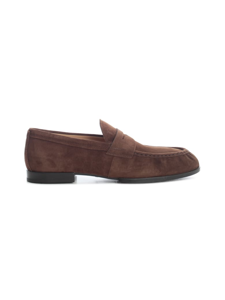 Tod's Amalfi Suede Loafers - Coconut