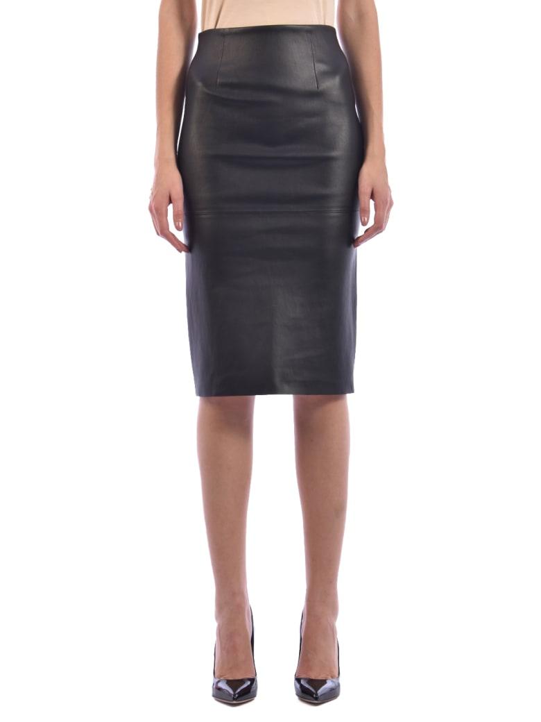 Germans Black Leather Skirt - Black