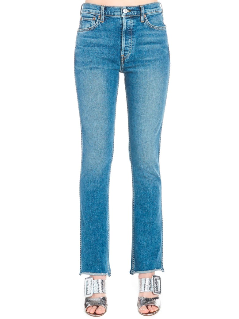 RE/DONE 'double Needle Long' Jeans - Blue