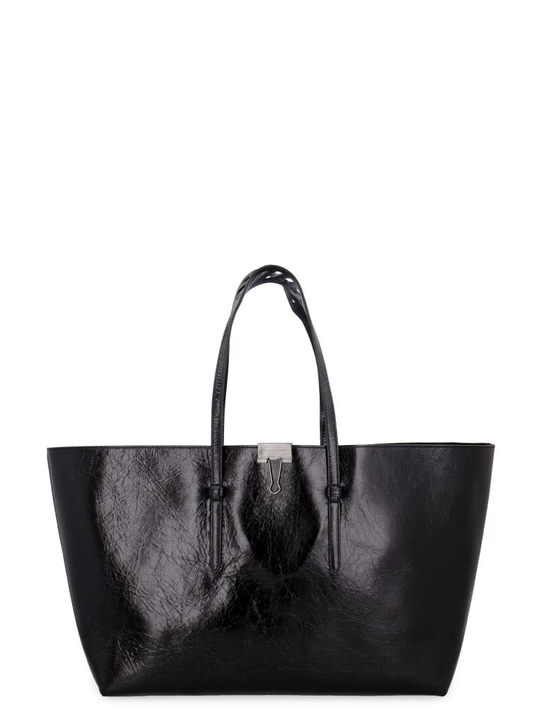Off-White Leather Tote - black