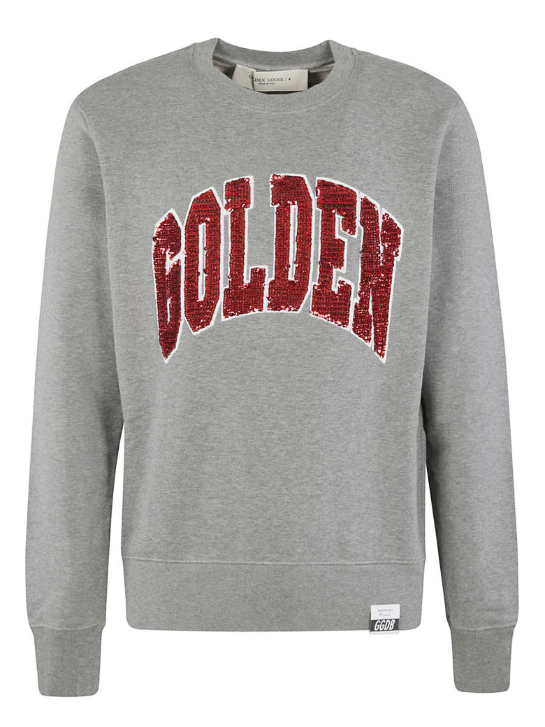 Golden Goose Archibald Regular Crewneck Rounded Sweatshirt - Grey Mélange/Multicolor