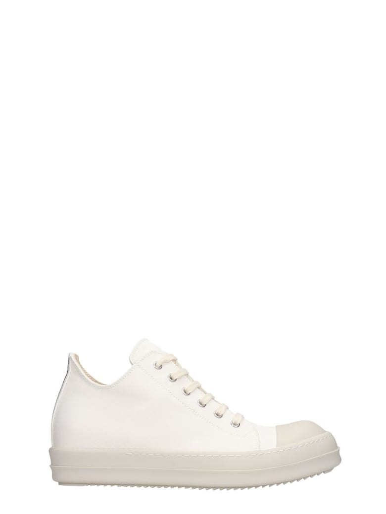 DRKSHDW Low Sneaks Sneakers In White Canvas - white