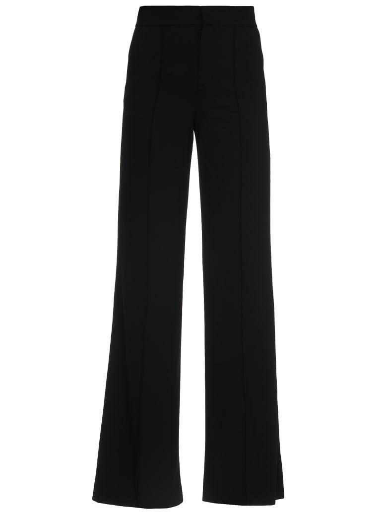 Alice + Olivia Plain Color Trousers - BLACK