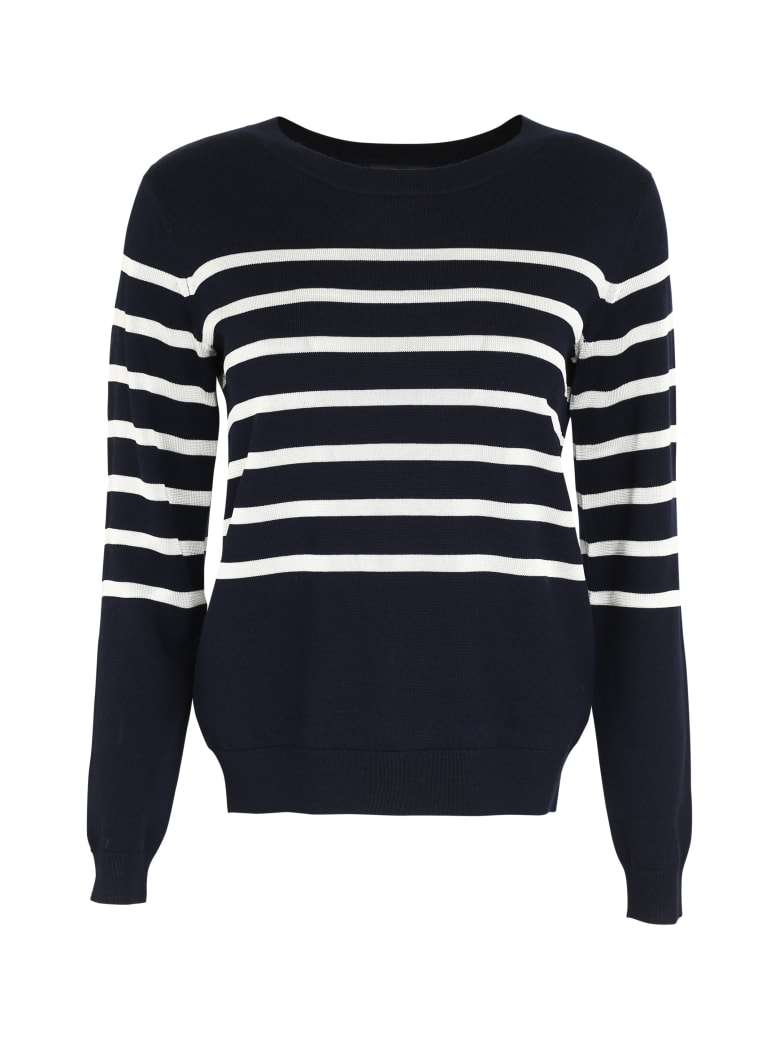 A.P.C. Cordelia Striped Crew-neck Pullover - blue
