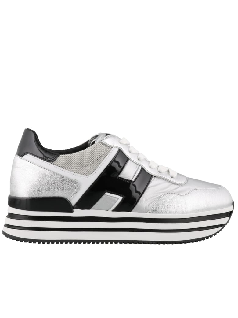 Hogan H483 Sneakers - Silver/ black