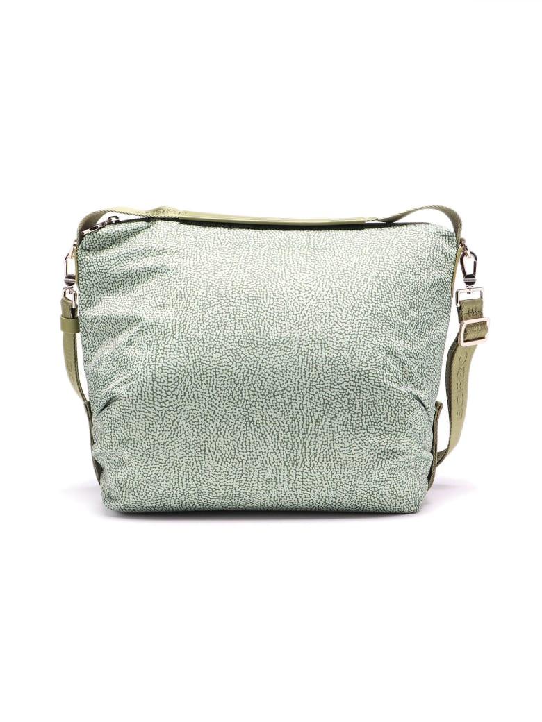 Borbonese Hobo Bag Medium - Verde Militare/verde Militare