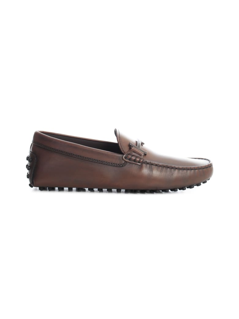 Tod's Double T Flat Loafers - Cacao