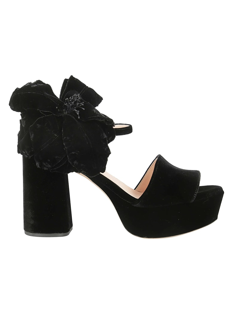 Rochas Abigail Platform Sandals - Black