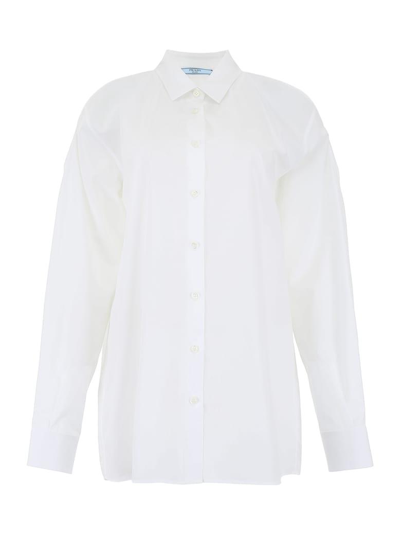 Prada Shirt With Cut-outs - BIANCO (White)