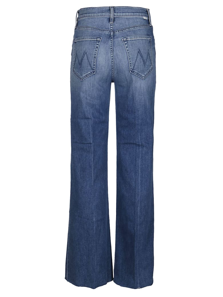 Mother Blue Cotton Jeans - Blue