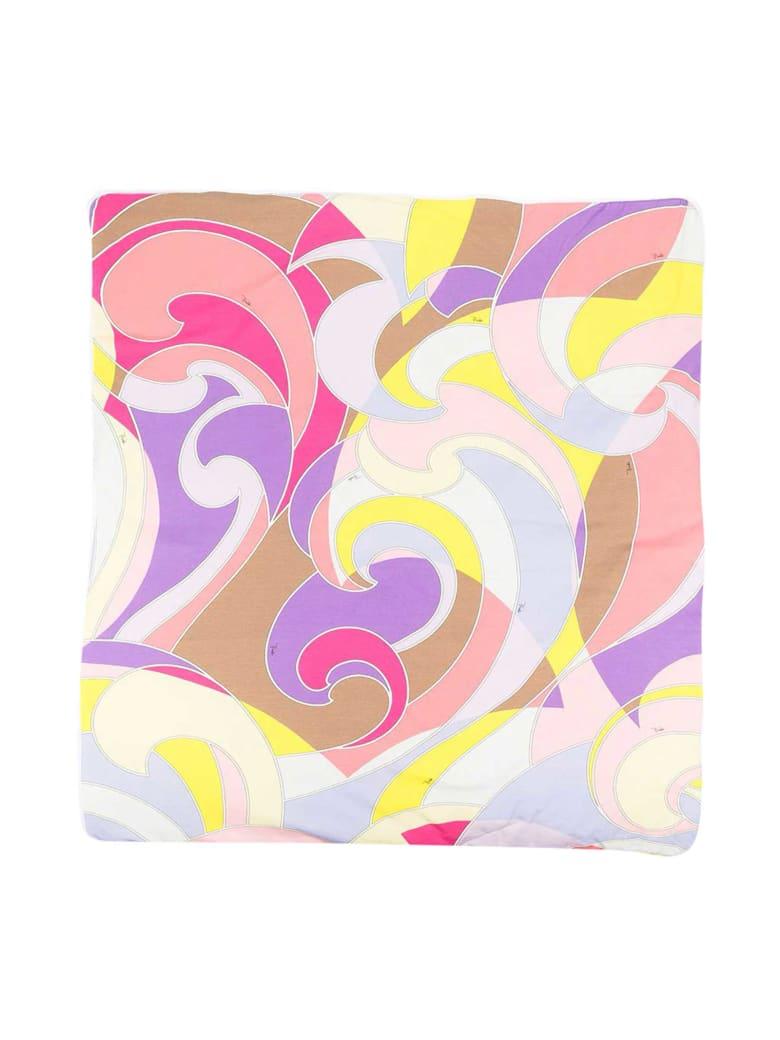 Emilio Pucci Emilio Pucci Kids Multicolored Blanket - Giallo/viola