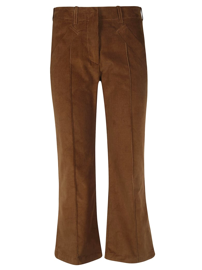 Jejia Flared Trousers - Brown