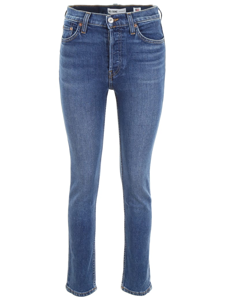 RE/DONE High Rise Jeans - MID 70S (Blue)