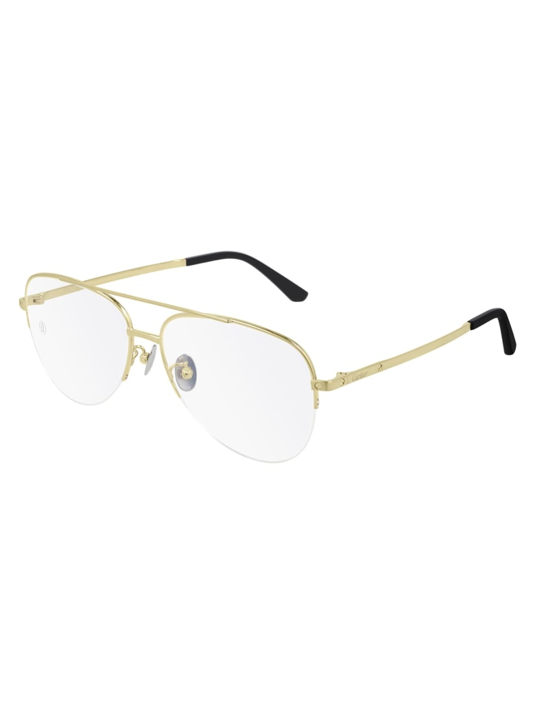 Cartier Eyewear CT0256O Eyewear - Gold Gold Transparent
