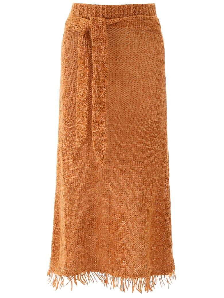 Nanushka Fringed Seda Skirt - ORANGE (Orange)