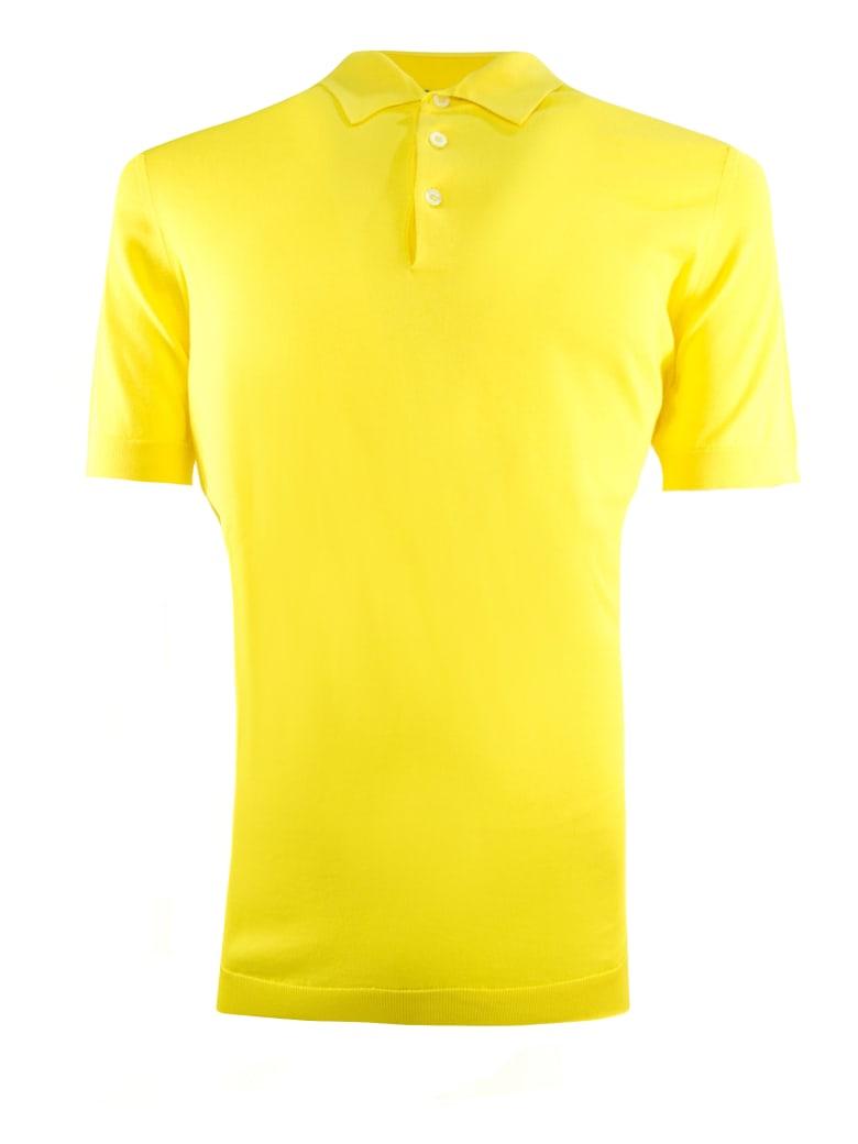 Drumohr Yellow Cotton Polo Shirt - Giallo
