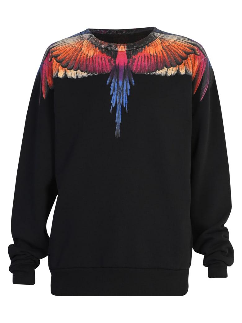 Marcelo Burlon Wings Print Sweatshirt - Black