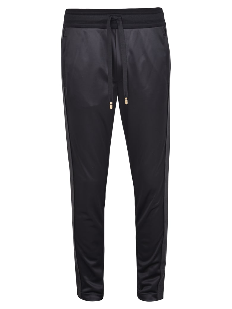 Dolce & Gabbana Side Bands Trousers - Black