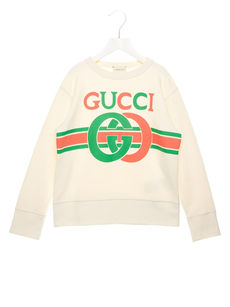 Gucci 'logo Interlock' Sweatshirt - White