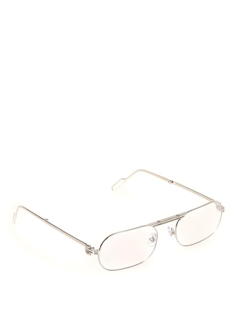 Cartier Eyewear CT0115O Eyewear - -silver-silver-transpa