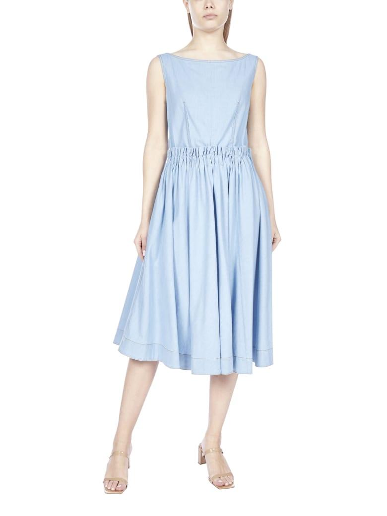 Marni Buttoned Stretch Cotton Dress - Zaffiro
