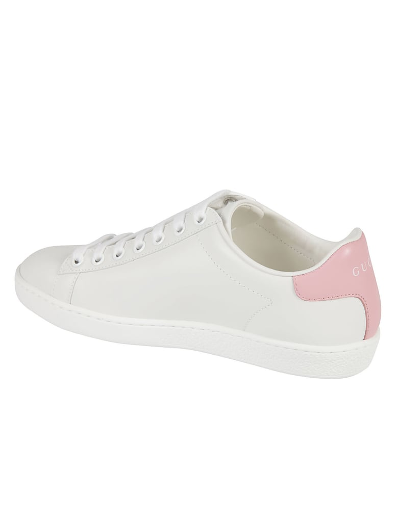 Gucci Classic Leather Sneakers - White/Pink