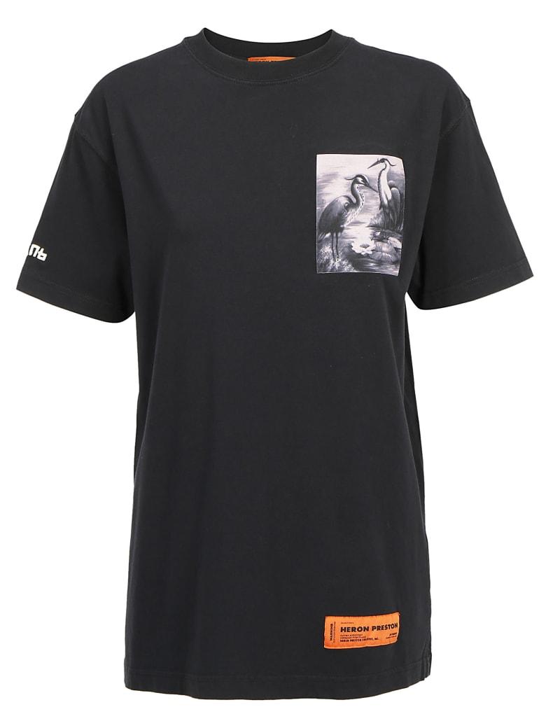 HERON PRESTON T-shirt - Off black