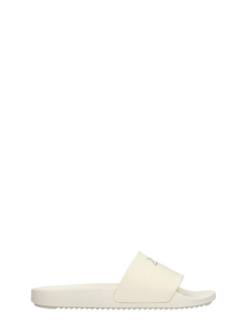 DRKSHDW Rubber Sliders Flats In White Rubber/plasic - white