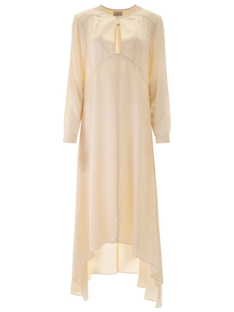 Le Kasha Silk Turfan Dress - CREAM (Beige)