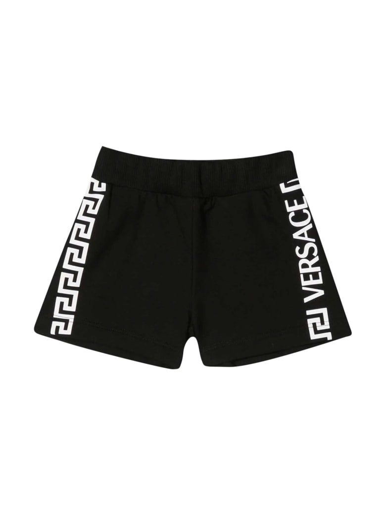 Young Versace Black Shorts - Nero/bianco