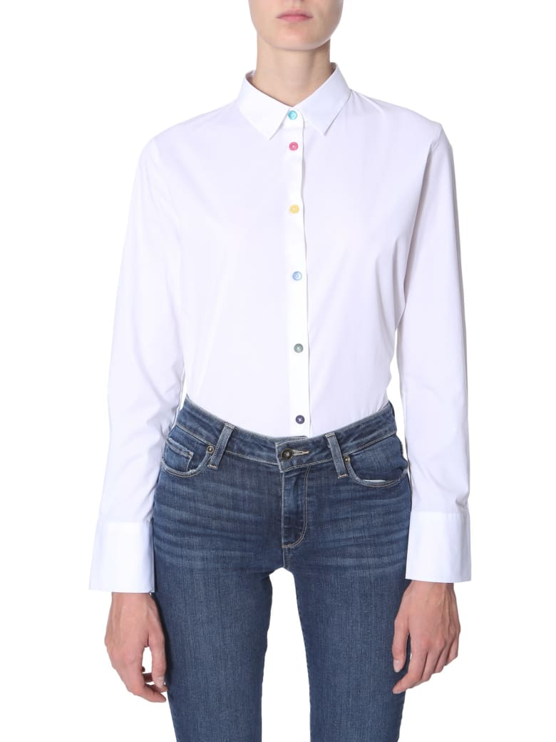 PS by Paul Smith Stretch Cotton Shirt - BIANCO