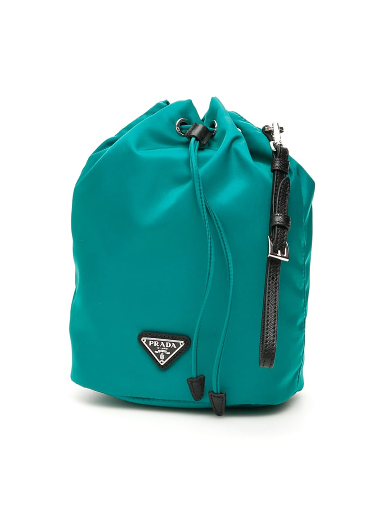 Prada Bucket Bag With Handle - ASSENZIO NERO (Green)