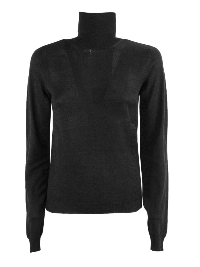 Dondup Black Merino Wool Sweater - Nero