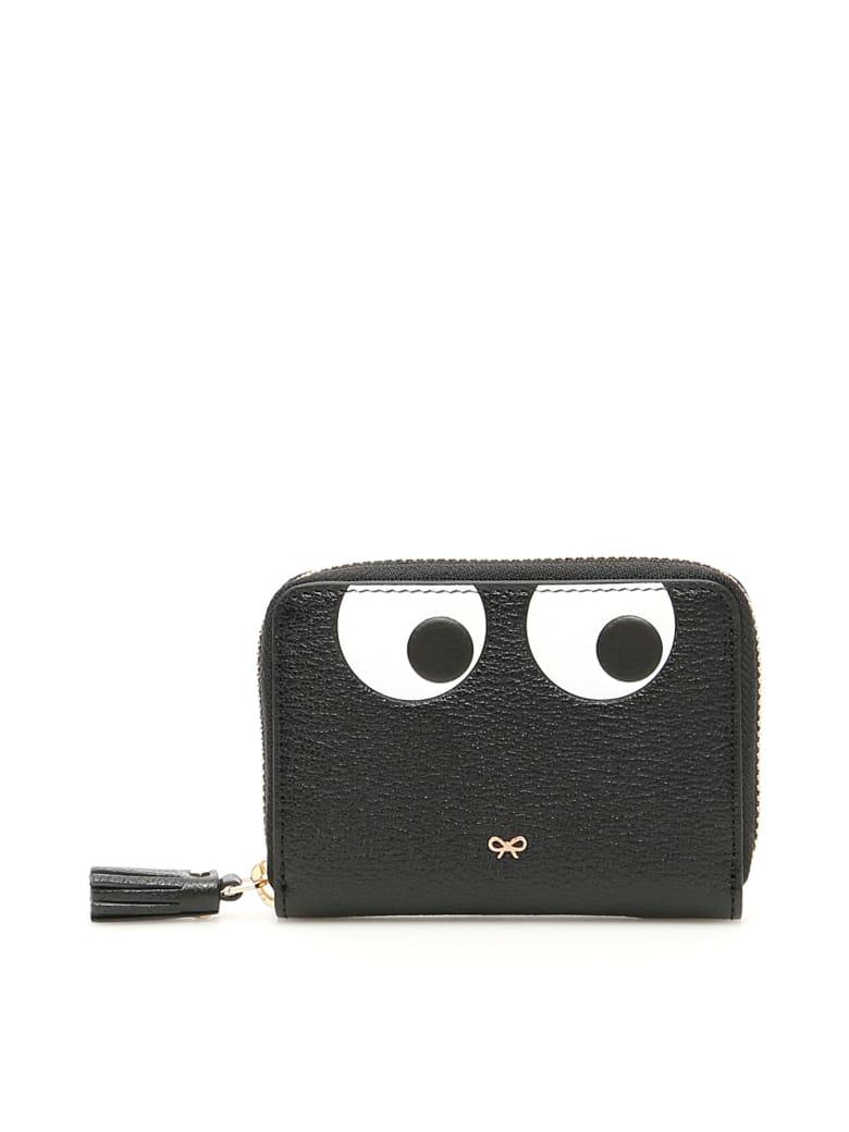 Anya Hindmarch Small Zip Around Eyes Wallet - BLACK (Black)