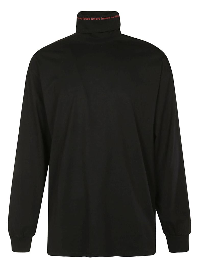 MSGM Turtleneck Jumper - Black