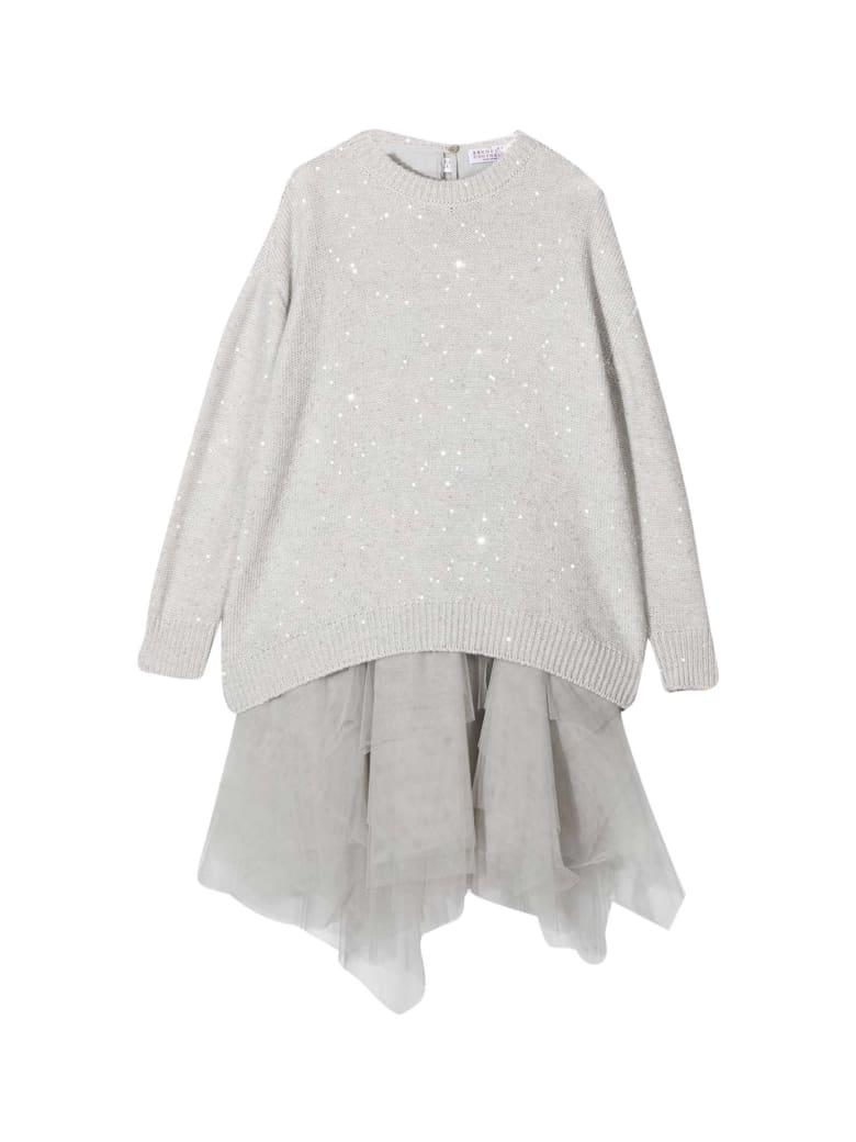 Brunello Cucinelli Gray Dress - Unica