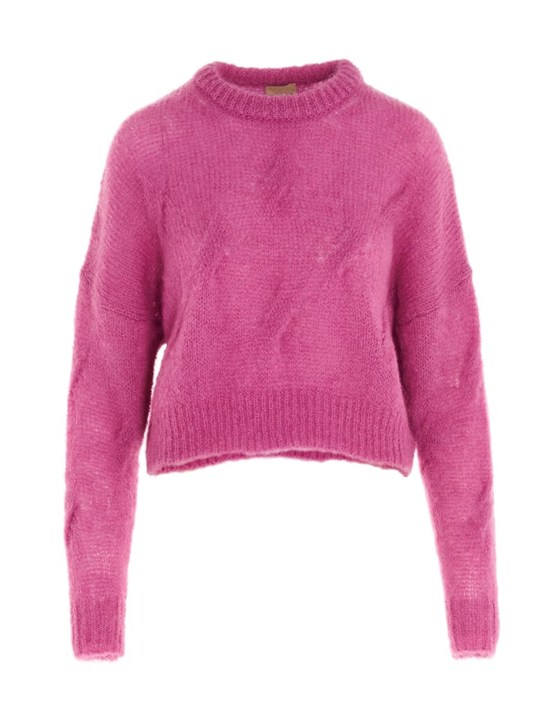 (nude) Sweater - Fuchsia