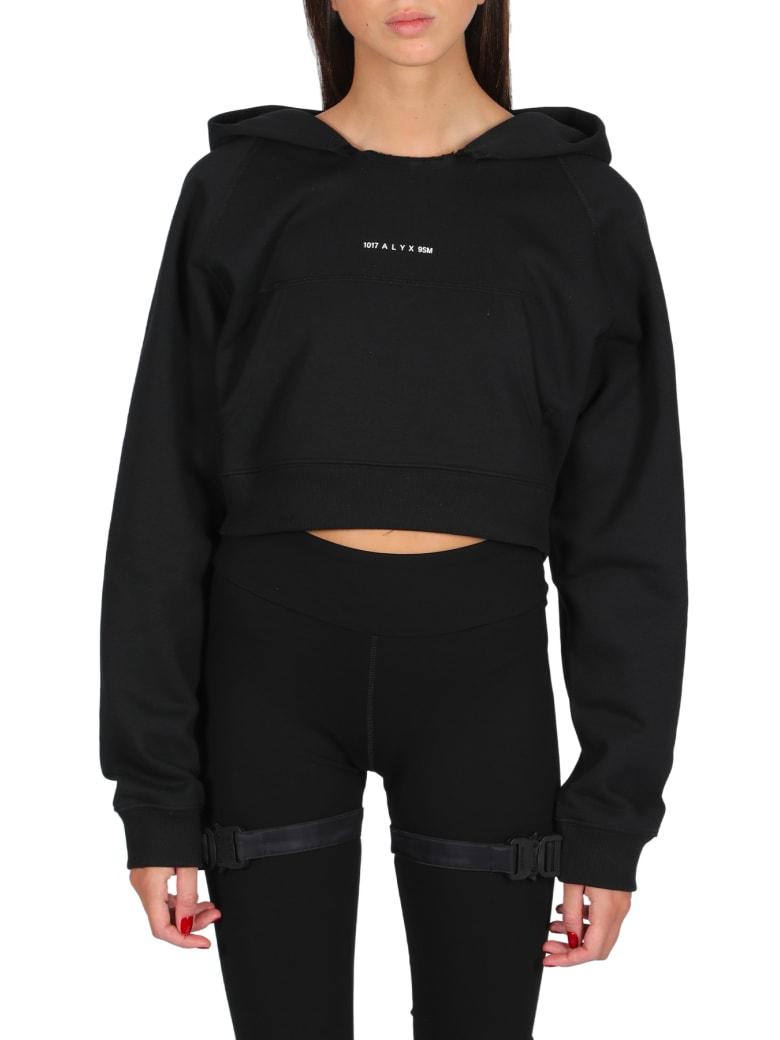 1017 ALYX 9SM Womens Hooded Sweatshirt Visual - Nero