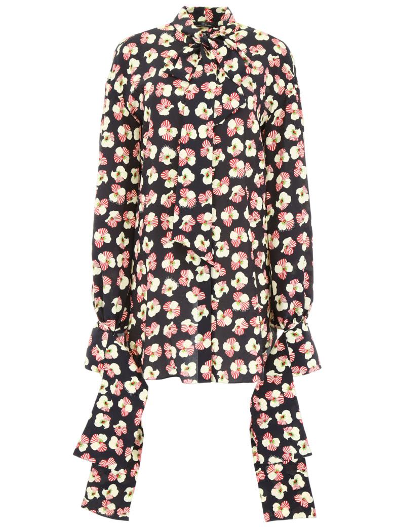 Rokh Shirt With Flower Print - MULTI (Black)