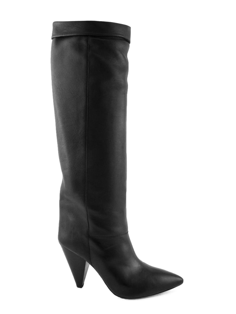 Isabel Marant Black Leather Loens High Boots - Nero