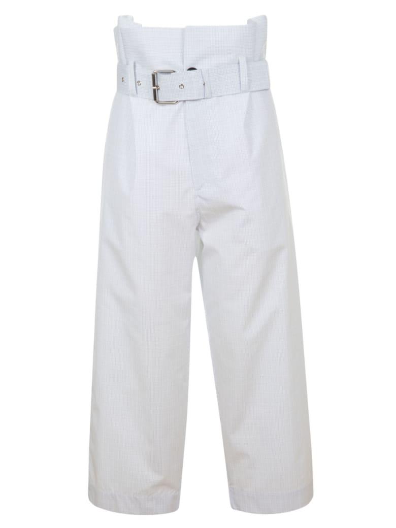Plan C Belted High Waist Trousers - Sky Blue