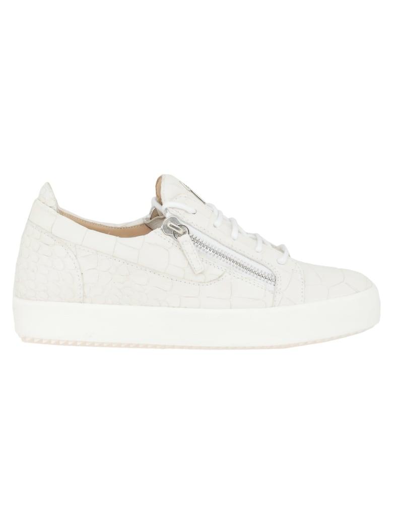 Giuseppe Zanotti Gail Croco Sneaker - White