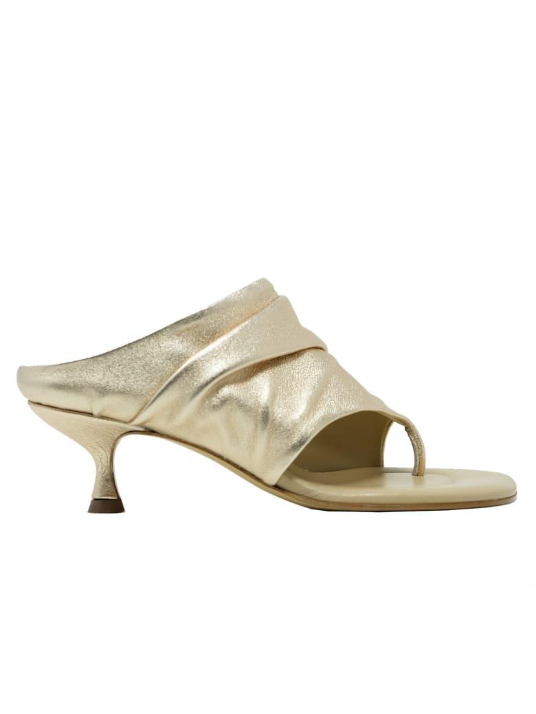 Elena Iachi Leather Sandals - GOLD