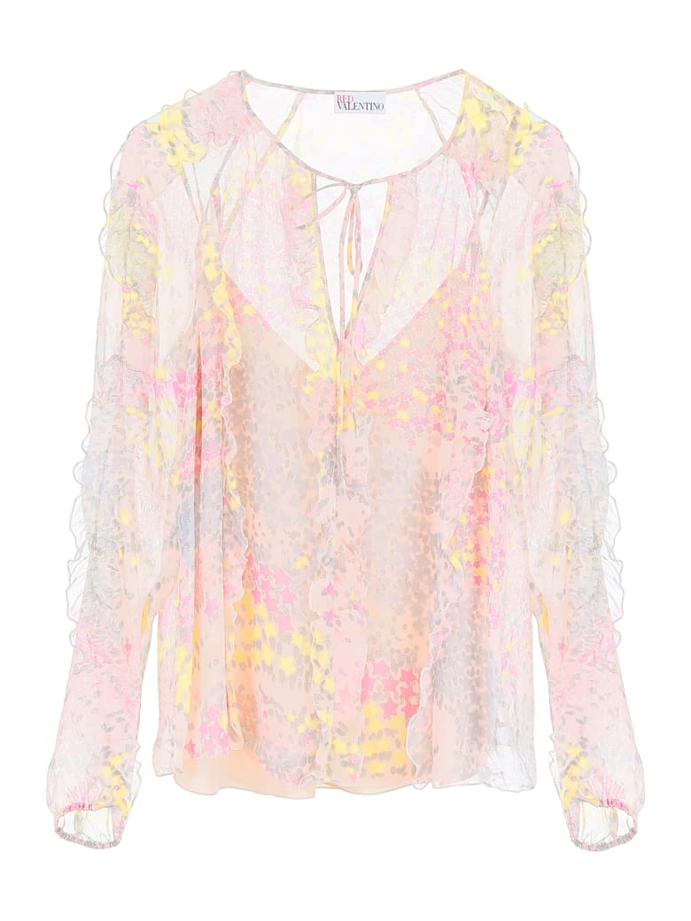 RED Valentino Printed Blouse - PINK MULTI (Pink)