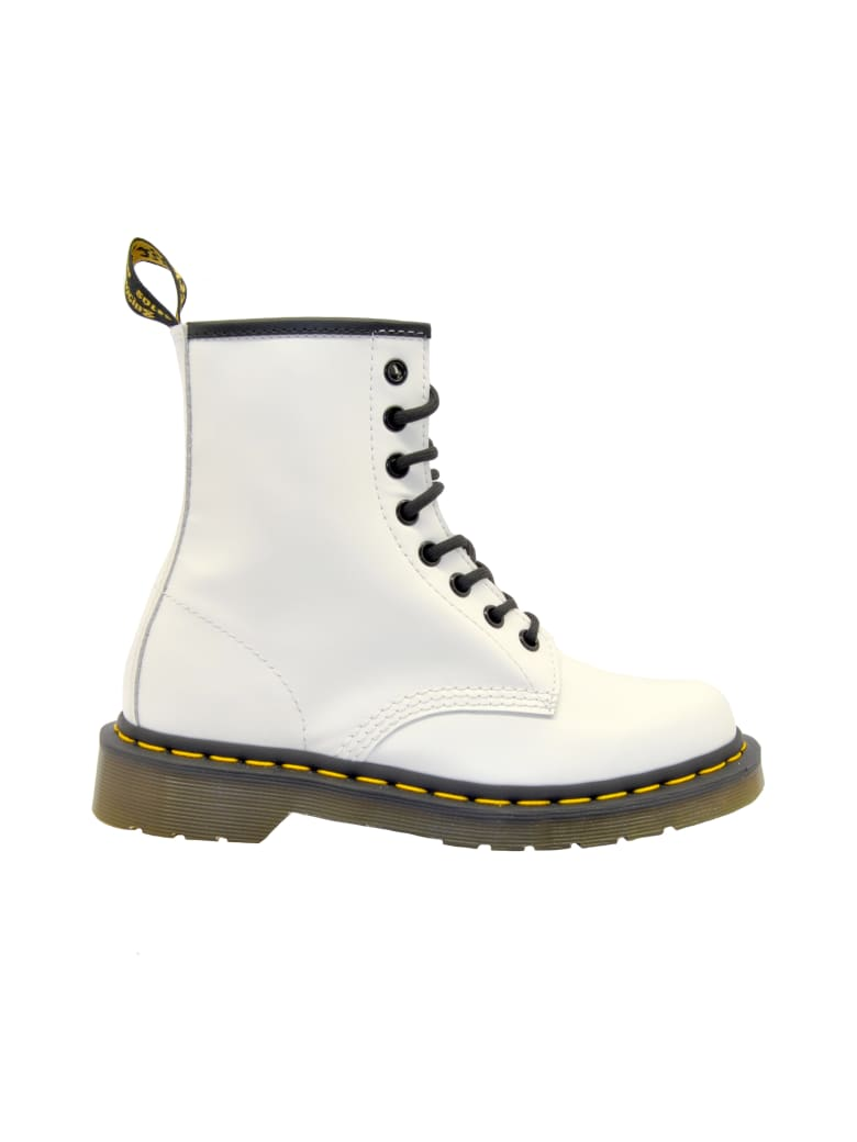 Dr. Martens Anfibio Pelle Bianco - SMOOTH WHITE